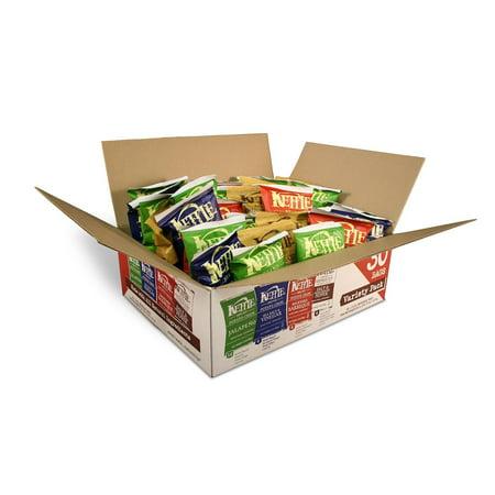Kettle Blend Chips (Kettle Brand Potato Chips Variety Pack (Sea Salt & Vinegar, Krinkle Salt & Pepper, Backyard BBQ, Jalapeno), 1.5 Oz, 30 Ct )