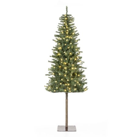 Best Choice Products 6ft Pre-Lit Hinged Artificial Alpine Christmas Tree Holiday Decoration w/ 250 LED Lights, 700 Tips, Metal