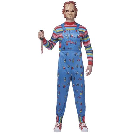 Mens Chucky Adult Costume - Extra Large, Size 46-50 - Chuckie Doll Costume