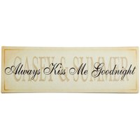 """Personalized """"Always Kiss Me Goodnight"""" Canvas Wall Decor, Available in 2 Sizes"""