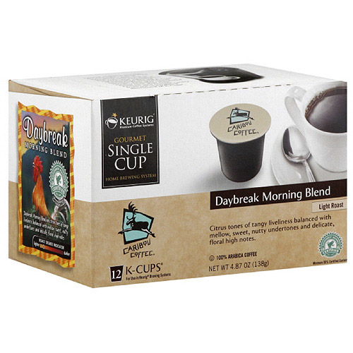 Caribou Coffee Daybreak Morning Blend K-Cup Coffee, 12ct (Pack of 6)