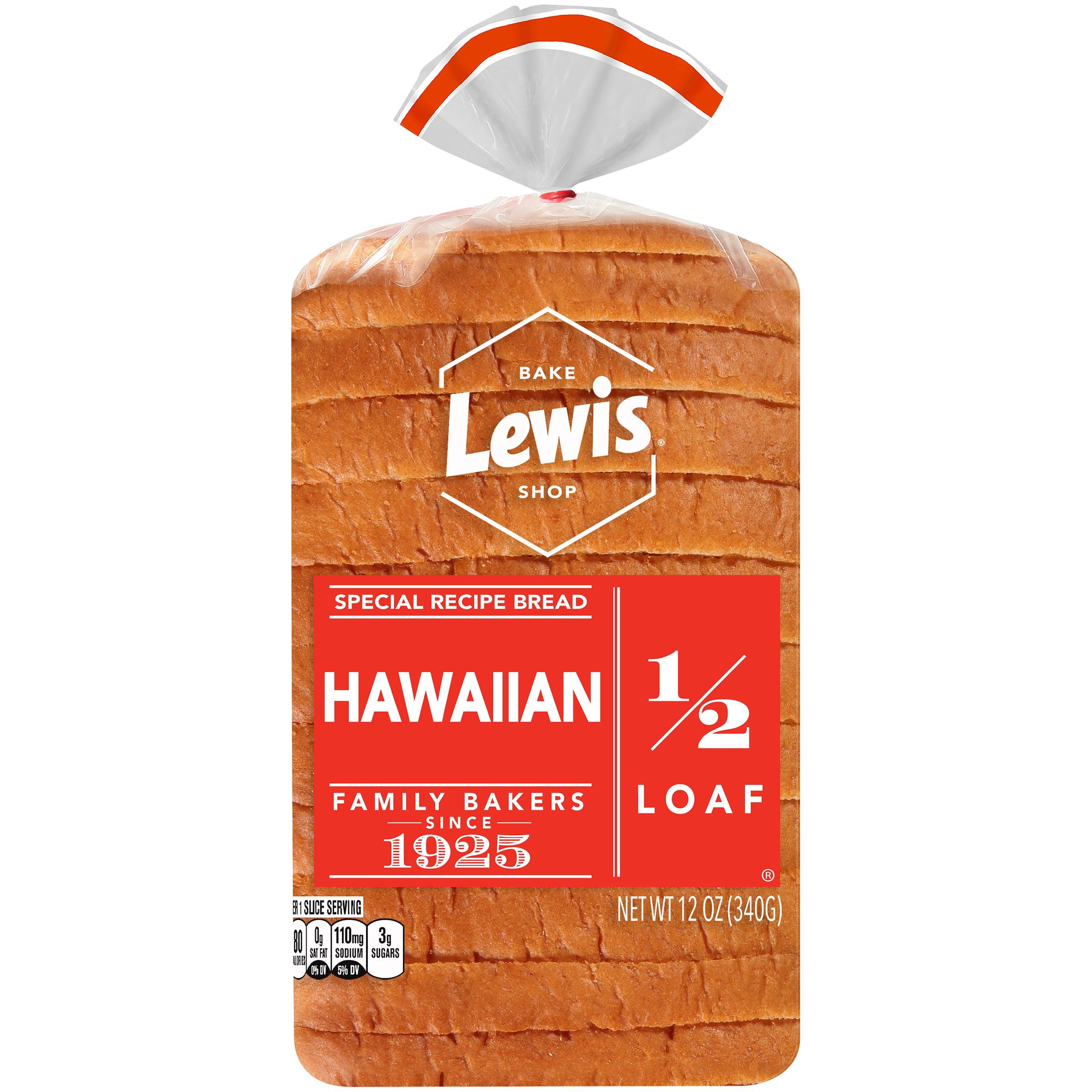 Lewis Bake Shop Half Loaf Hawaiian Special Recipe Bread, 1/2 Loaf, 12 oz.