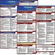 JJ KELLER 200-DE-5 Labor Law Poster,Fed/STA,DE,SP,20inH,5yr