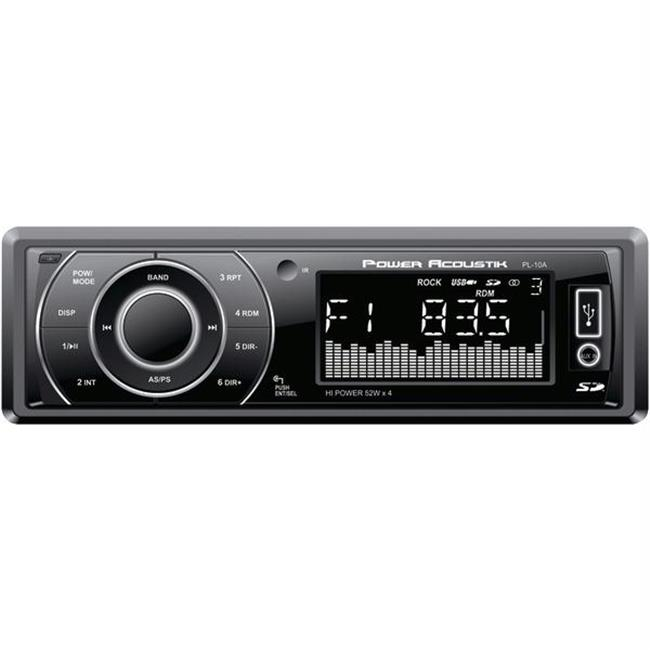 POWER ACOUSTIK PL-10A In Dash MP3/USB/SD AUX Car Receiver Audio Stereo +Remote