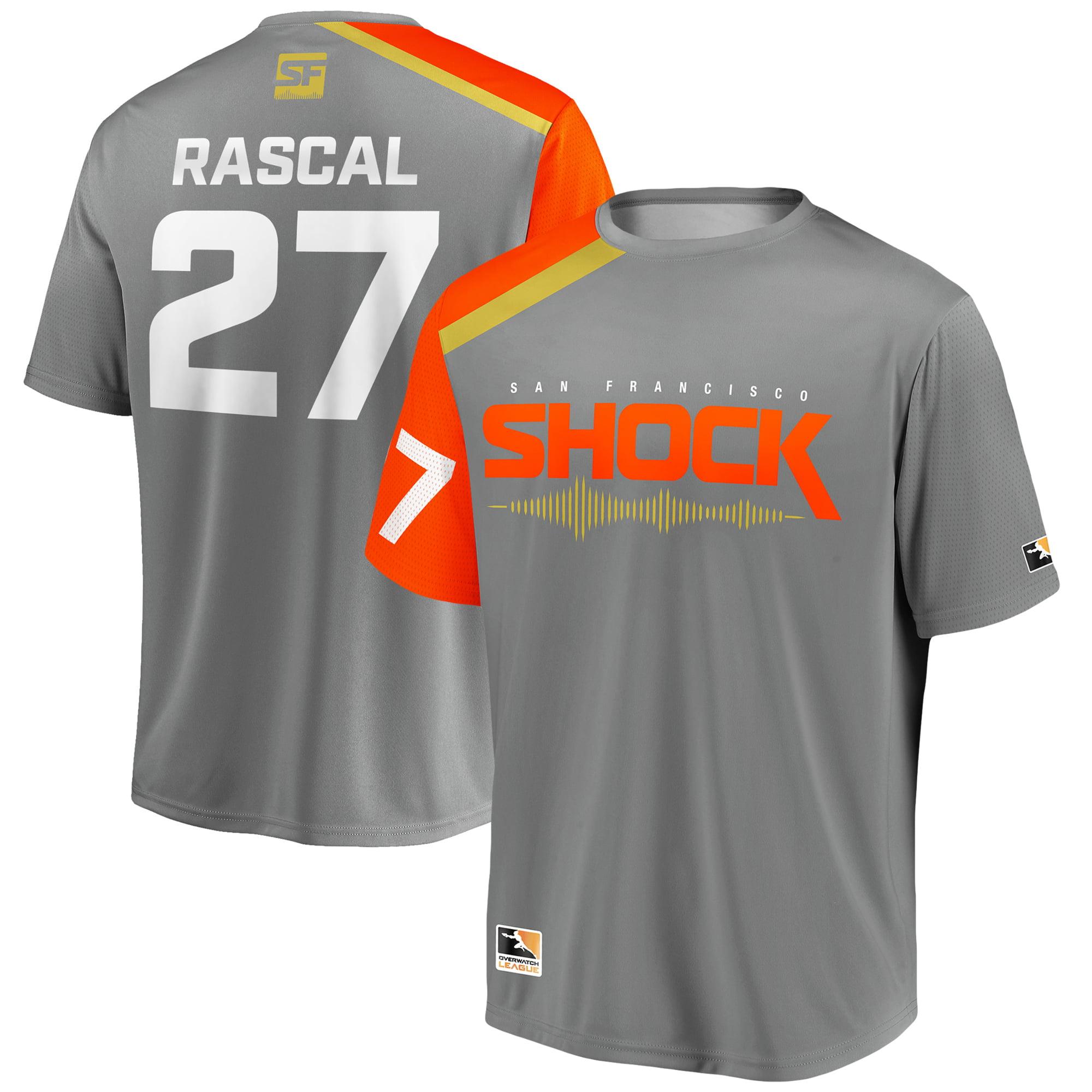 Rascal San Francisco Shock Overwatch League Replica Home Jersey - Gray