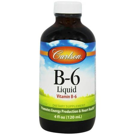 Carlson Labs - Vitamine B6 liquide 200 mg. - 125 grammes.