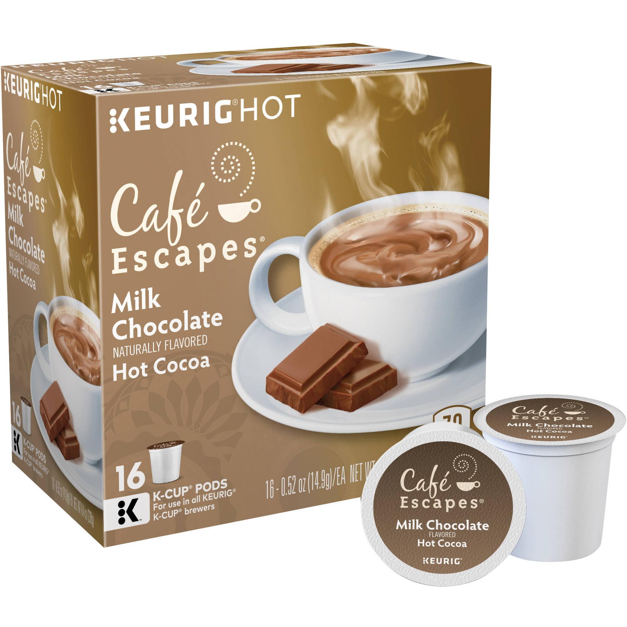 Keurig Green Mountain Cafe Escapes Milk Chocolate Cocoa, 16 count