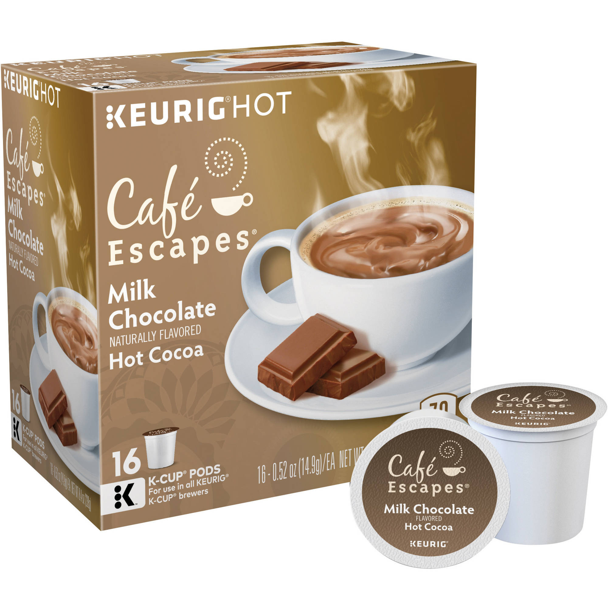 Keurig Green Mountain Cafe Escapes Milk Chocolate Cocoa, 16 count