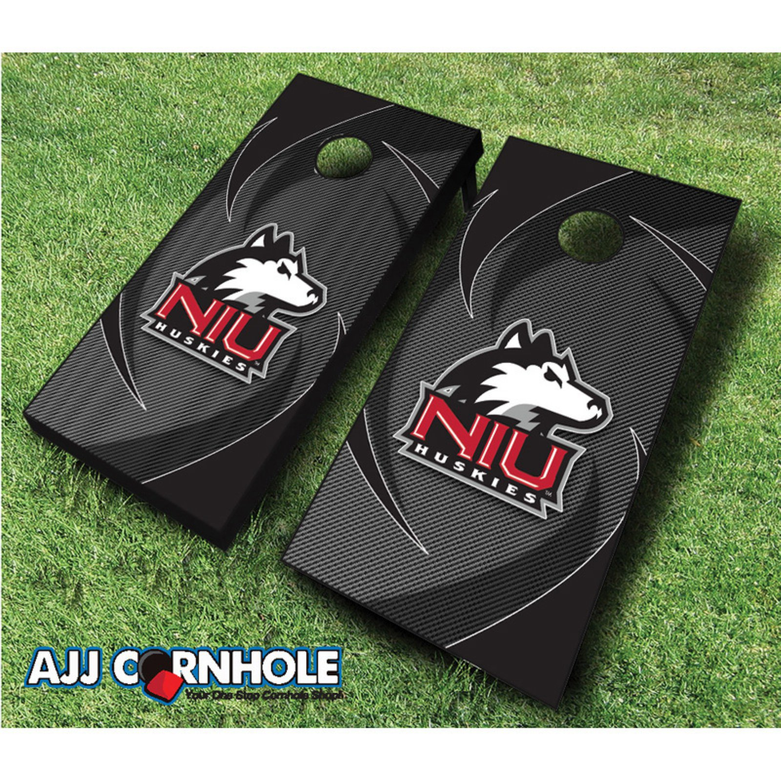AJJ Cornhole Northern Illinois Swoosh Cornhole Set by