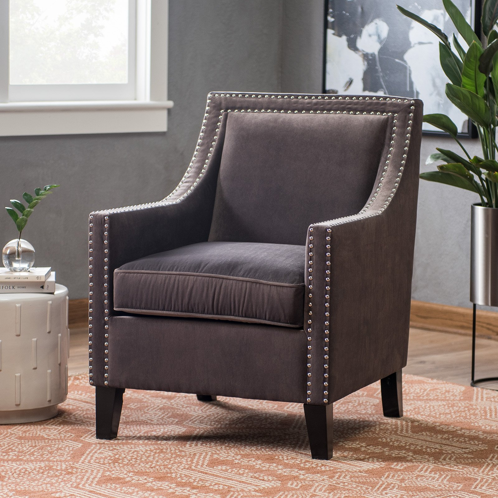Belham Living Delaney Armchair Taupe by