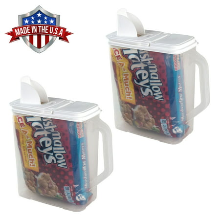 2 Pack of Food Storage Container 6 Quart Flour Sugar Keeper Pour n' Store with