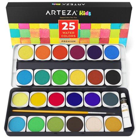 Jumbo Watercolor Set - Arteza Kids Watercolor Paint (Set of 25)
