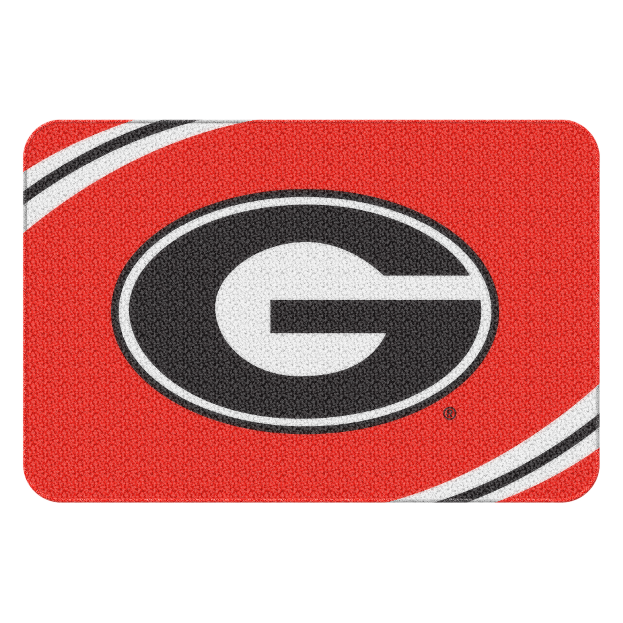 "NCAA Georgia Bulldogs Nylon 20"" x 30"" Round Edge Bath Rug, 1 Each"