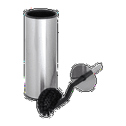 ToiletTree Products Angled Bathroom Toilet Scrubber Brush With Stainless Steel Holder, 14.5 Inch Height