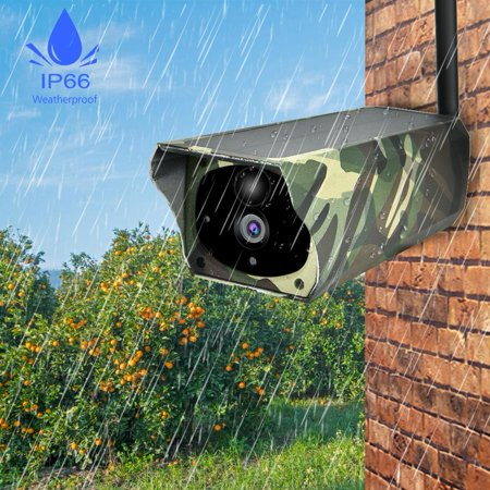 Domqga Solar Camera, Security Camera, 1080P HD Solar Wifi Camera Outdoor Wireless Security Camera Camouflage - image 8 of 11