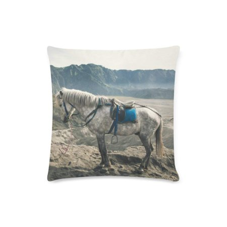RYLABLUE Horse Series Decorative Pillow Cases Sofa Throw Pillow Covers Two Sides Printing 18x18 inches - image 1 of 1