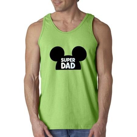 1150 Tank Bag (Trendy USA 1150 - Men's Tank-Top Super Dad Father Mickey Ears Medium)