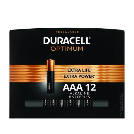Duracell Optimum 1.5V Alkaline AAA Batteries, Convenient, Resealable Package, 12 (The Best Aaa Batteries)