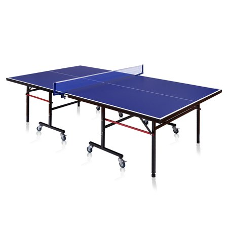 Goplus Foldable Competition-Ready Table Tennis Table Removable Net Locking Casters Fun ()