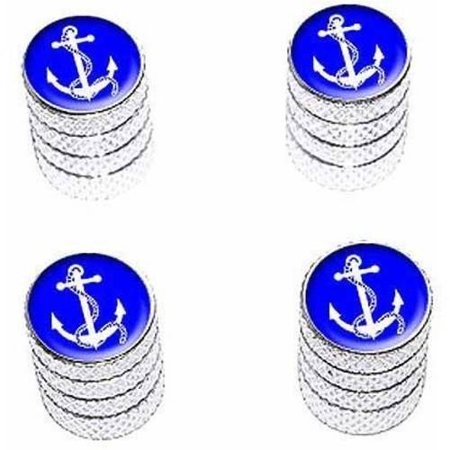 Anchor and Rope Ship Boat Boating Sailing Tire Rim Wheel Aluminum Valve Stem Caps, Multiple Colors
