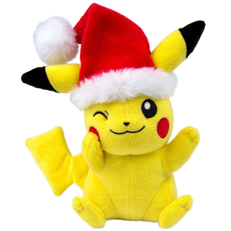pokemon christmas plush pikachu hat walmartcom - Christmas Plush Toys