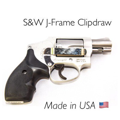 Clipdraw Concealed Carry Mount for S&W J-Frame Revolvers -- Silver ()