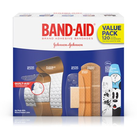 - Band-Aid Brand Adhesive Bandage Variety Pack, Assorted Sizes, 120 ct