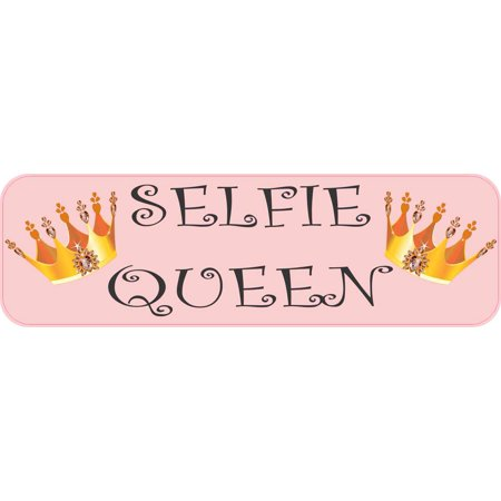 10in x 3in selfie queen sticker vinyl funny bumper decal window stickers