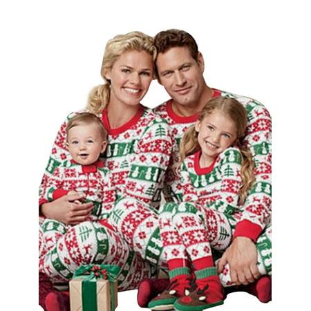 506e605708 Ropalia - Ropalia Christmas Matching Family Pajamas Sets Children Adult  Sleepwear Outfit - Walmart.com