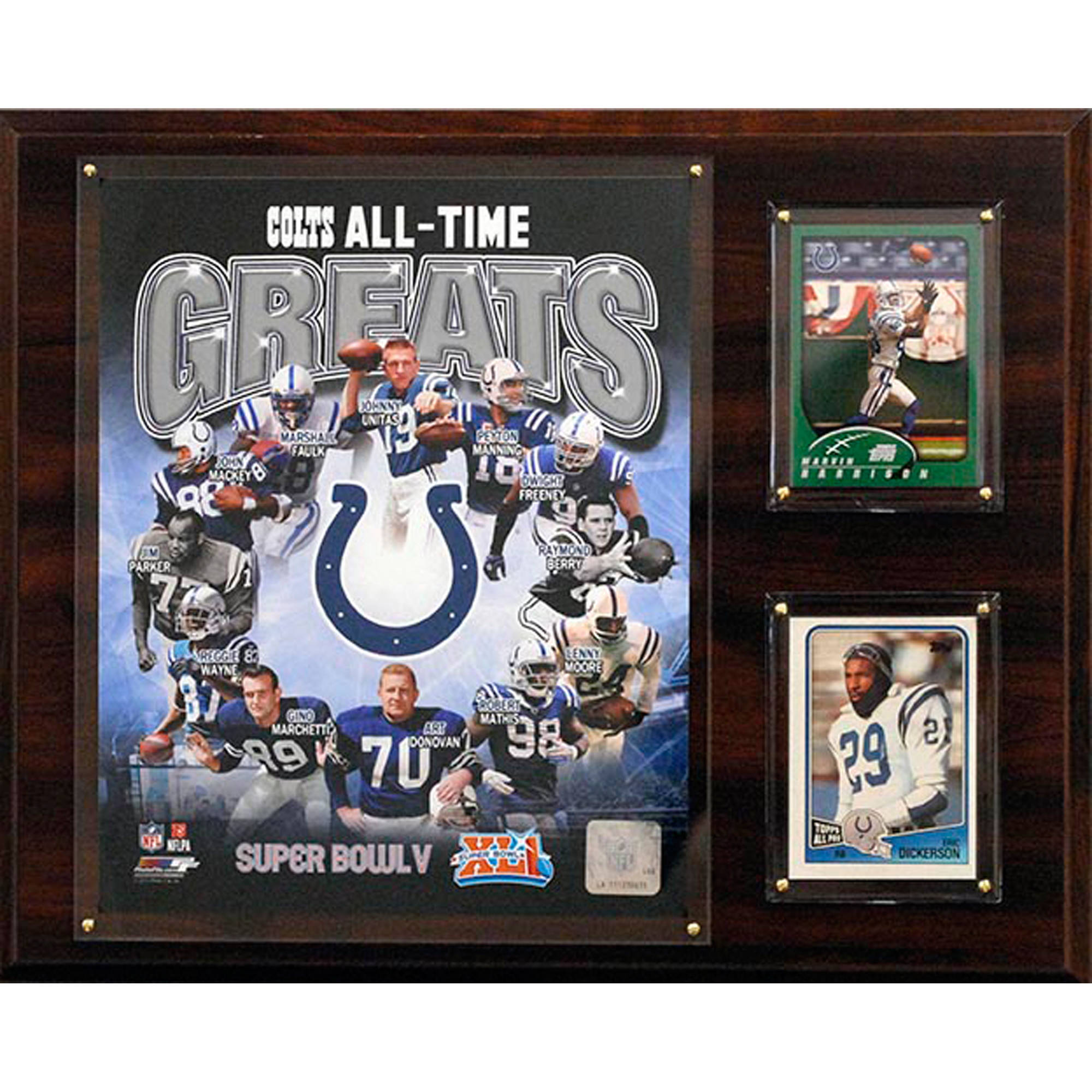 C&I Collectables NFL 12x15 Indianapolis Colts All-Time Greats Photo Plaque