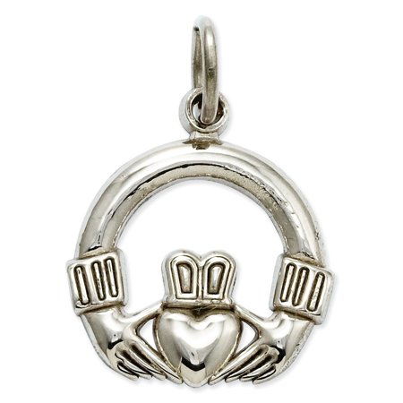 Gold Celtic Knot (14k White Gold Irish Claddagh Celtic Knot Pendant Charm Necklace Gifts For Women For Her)