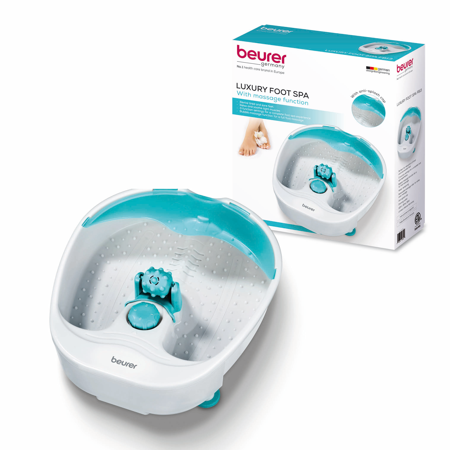 Beurer Relaxing Foot Spa Massager, a Professional Quality Foot Bath with 3 Massage Levels and Heat Function to Refresh and Detoxify Feet,