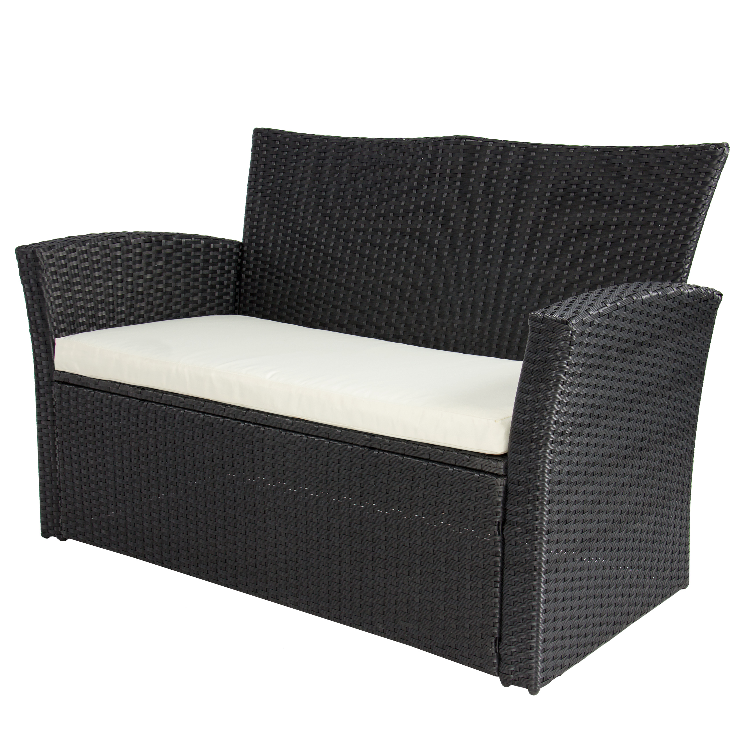 Merveilleux 4pc Outdoor Patio Garden Furniture Wicker Rattan Sofa Set Black    Walmart.com