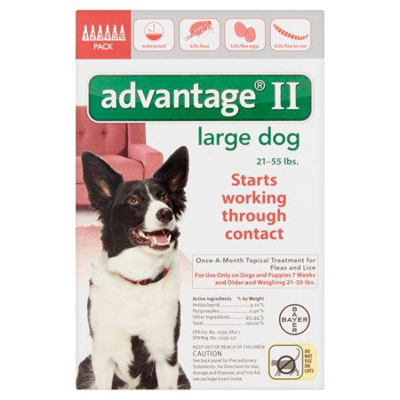 Advantage Ii Topical Flea Monthly Treatment For Large Dogs  6 Treatments