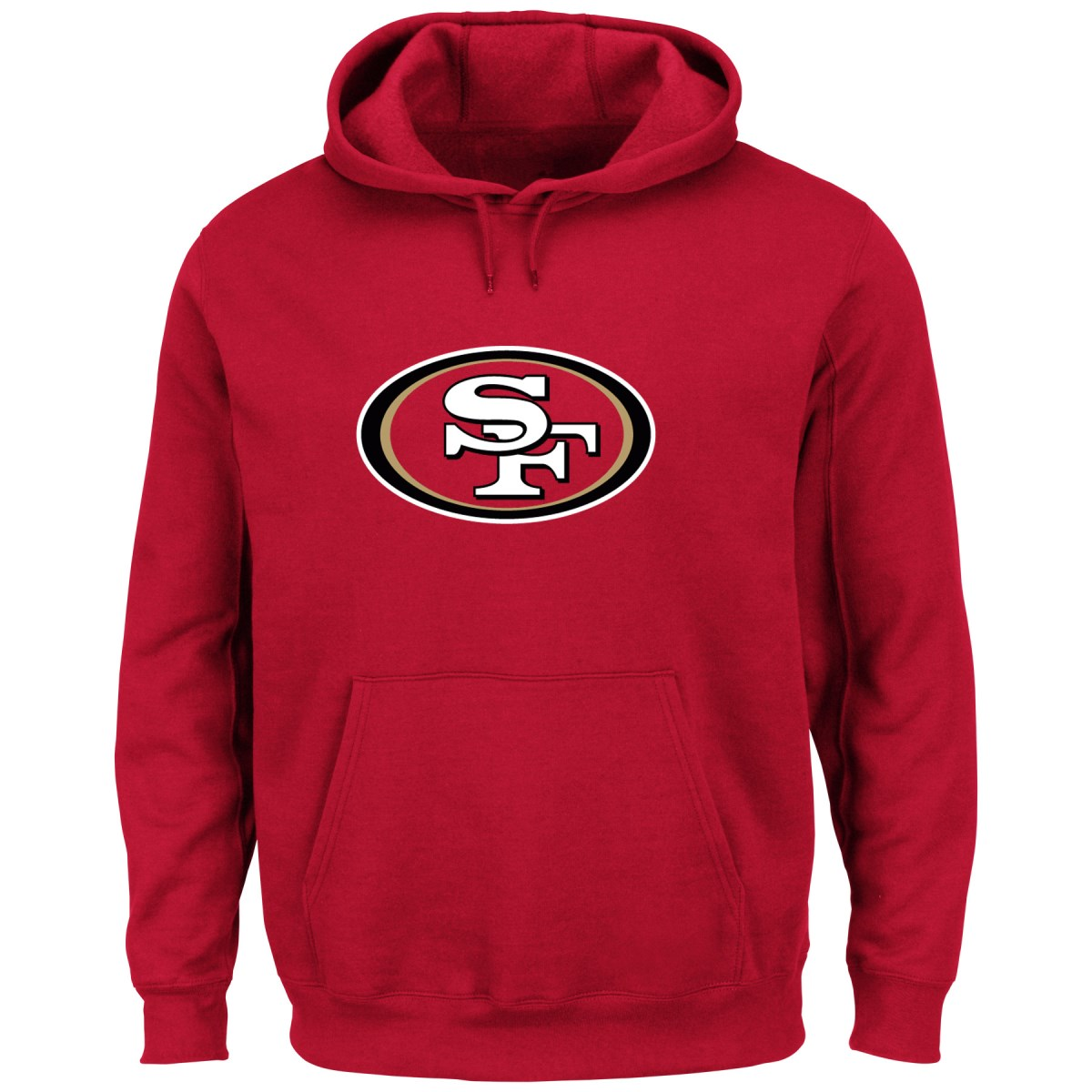 "San Francisco 49ers Majestic NFL ""Tek Patch"" Hooded Sweatshirt - Red"