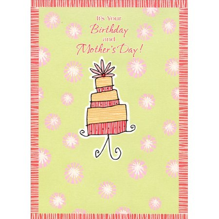 Designer Greetings Layered Birthday Cake Mother's Day (Laser Cards)
