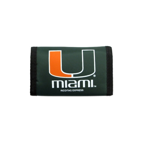 Miami Hurricanes Official NCAA Nylon Trifold Wallet by Rico Industries 990239