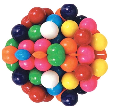 Dubble Bubble .62 Inch Gumballs, (Pack of 3650)