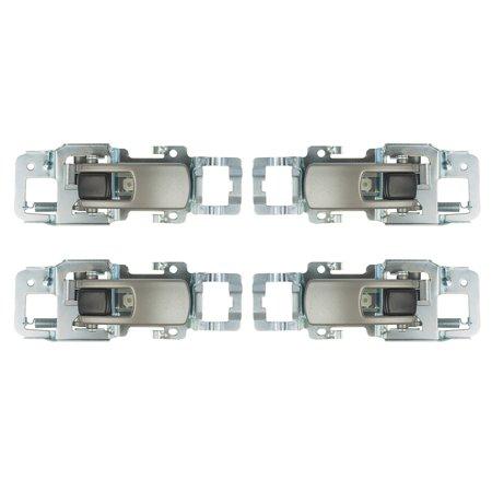 4 Pc Set Inside Interior Satin Door Handles Replacement for Chevrolet Equinox Pontiac Torrent 15926295 -