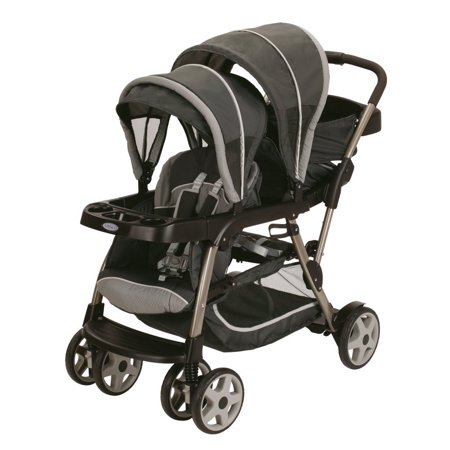 graco ready2grow click connect lx dual baby stroller glacier