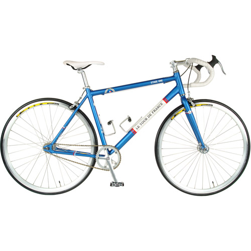 56cm Tour de France Stage One Vintage Blue Fixed Gear Bicycle