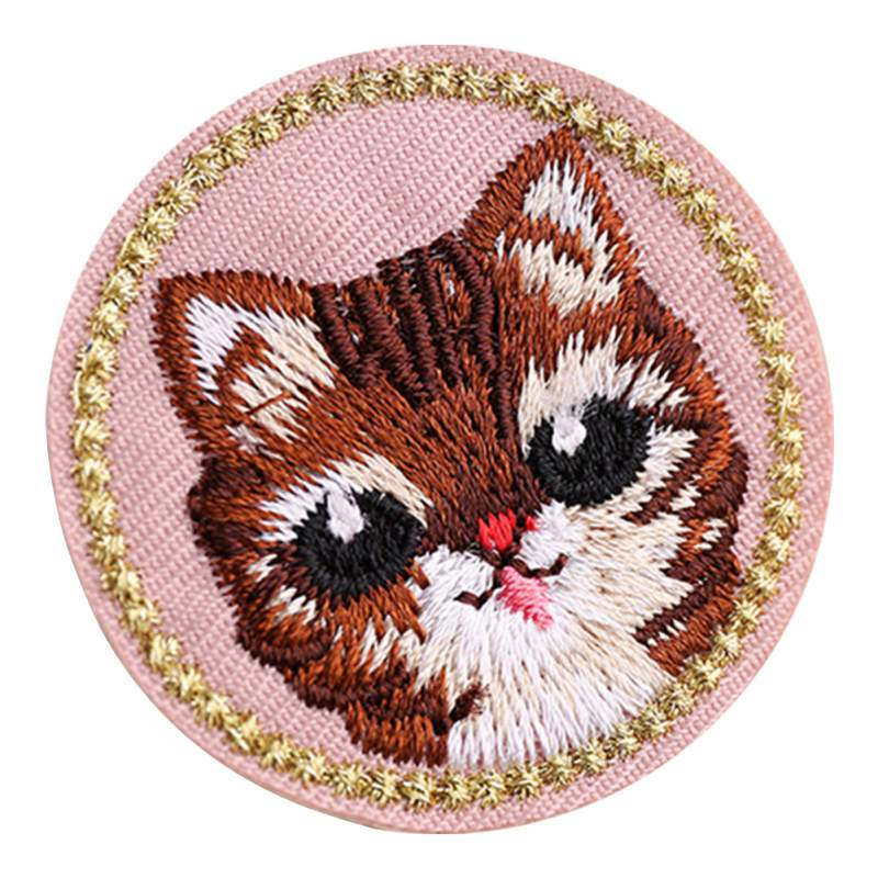 Pack of 5 Embroidery Animal Iron on Patches Dog Cat Rabbit Badge Sticker DIY