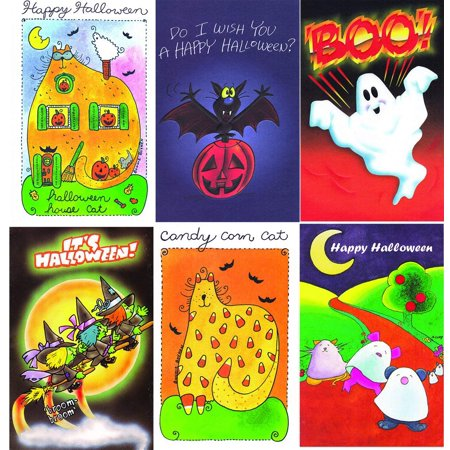 Halloween Cards To Make Online (Assorted Halloween Greeting Cards - 36)