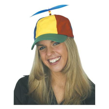 Childs Kids Nerds Multicolored Propeller Hat Cap Costume Accessory