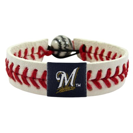 Milwaukee Brewers Official MLB Baseball Bracelet by Gamewear 001057