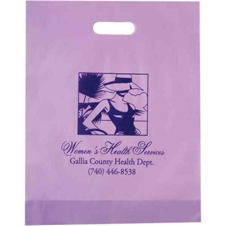 AAB 19FD12153 12 in. x 15 in. Frosted Die Cut Bag  - Pack of - Frosted Die Cut Bag
