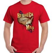 Redneck Map Funny Shirt   Country Luke Bryan Cool Cowboy Gift T-Shirt Tee