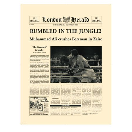 Rumbled In The Jungle! Print Wall Art By The Vintage Collection