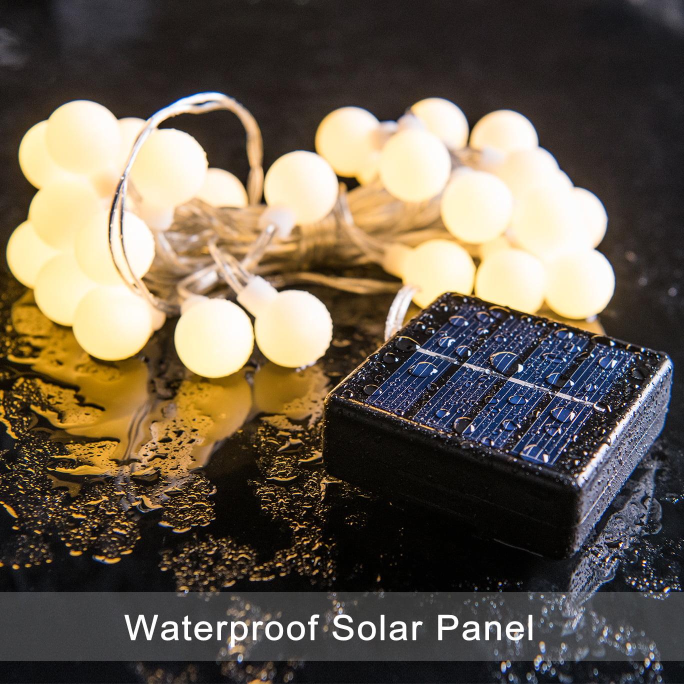 Decornova Warm White Globe String Lights,2 Set of 13 feet 30 LEDs IP44 Waterproof Outdoor Solar Powered LED... by Decornova