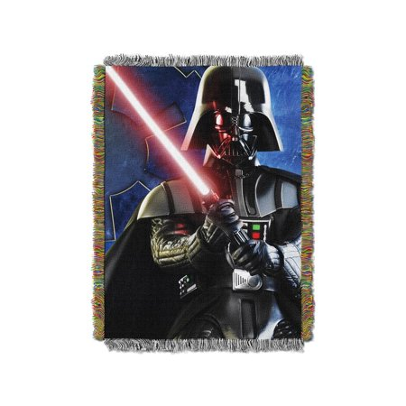 """Lucas Films Star Wars """"Sith Lord"""" 48"""" x 60"""" Woven Tapestry Throw"""